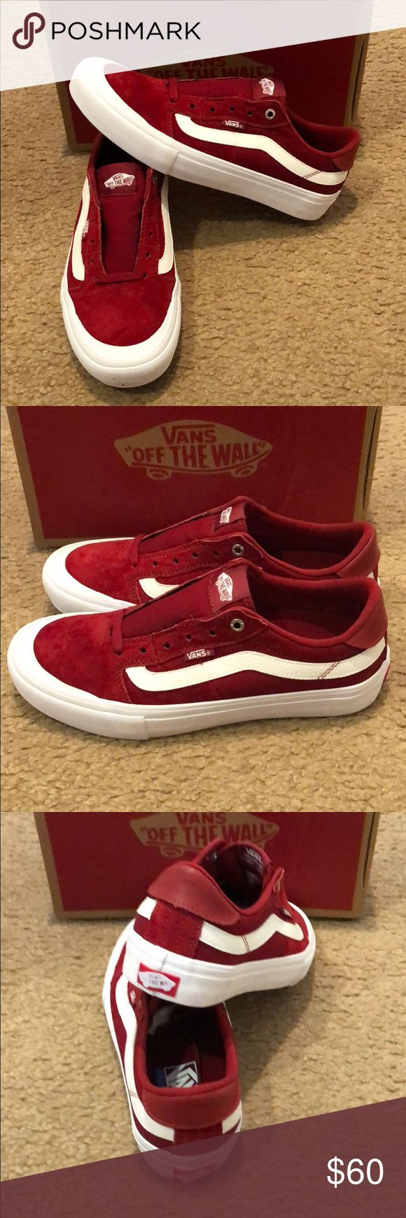 Style 112 Pro Vans New in box. Red dahlia Vans Shoes Sneakers