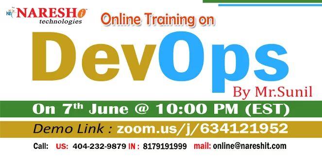 DevOps Online Training from 8th June @ 7:30 AM (IST) by Mr.Sunil | To Attend Live Demo Reg.Now! Demo Link: https://zoom.us/J/634121952  #DevOps #Online ... - Naresh IT - Google+