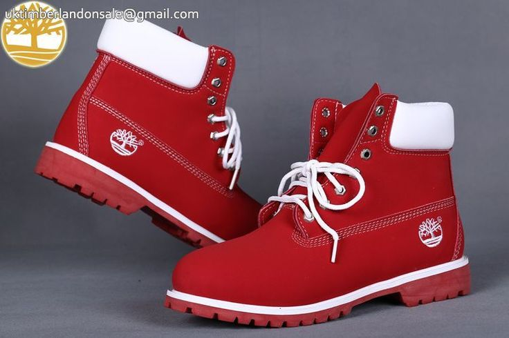 Custom Red-White Timberland 6 Inch Waterproof Premium Men Outlet $95.99