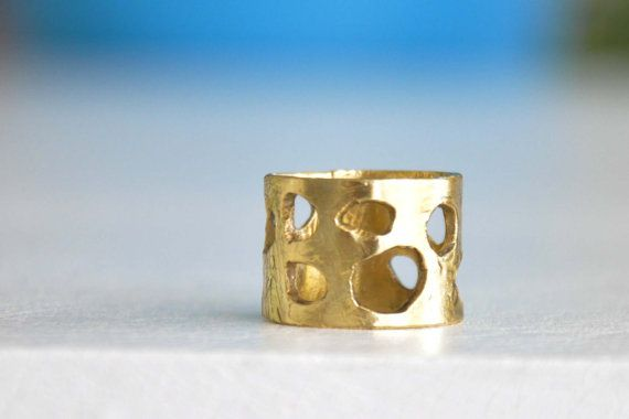 Hole full brass ring. OOAK handmade brass ring. Made to by zOOzART, $26.00