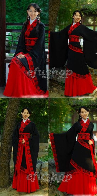 Name: Black cotton hanfu dress - Custom-made Cheongsam,Chinese clothes, Qipao, Chinese Dresses, chinese clothing,EFU Tailor Shop    ancient china outfit...$280 at efushop.com
