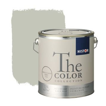 Histor The Color Collection muurverf shells sand grey 2,5 liter