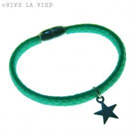 Star Beach Bracelet - Turkoois (M) mangneet slot  http://www.mijnwebwinkel.nl/winkel/vivelaviep/c-1936632/sieraden-vive-la-viep/