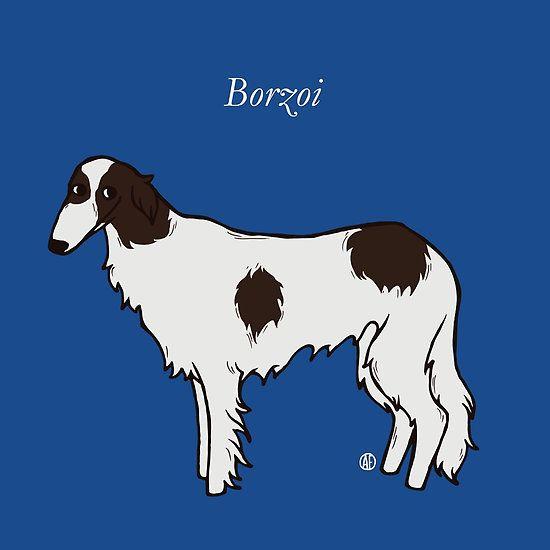 Borzoi by AleFlavia