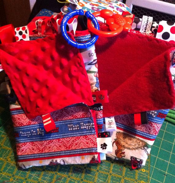 International Case IH Tractor fans.  Tag & Tow sensory ribbon lovie.  Ready to go, pick from 2. on Etsy, $16.74