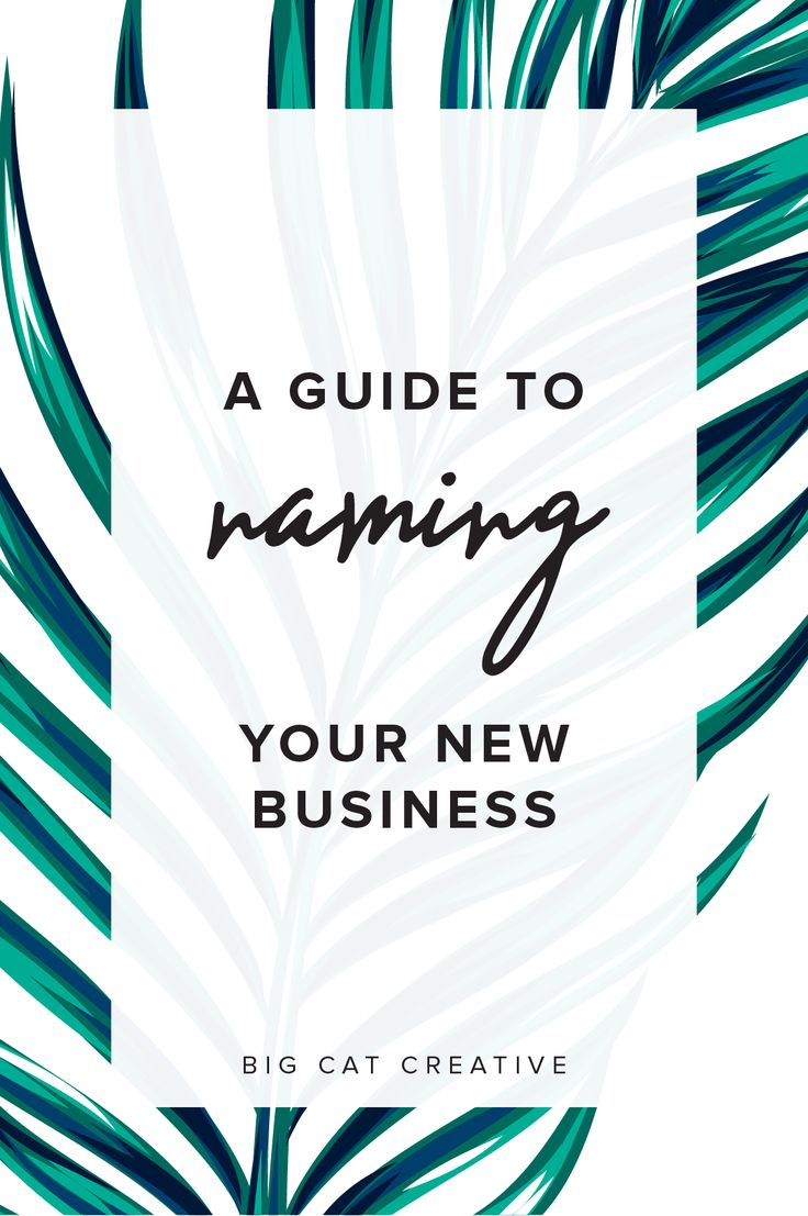 An Unconventional Guide to Naming Your New Business — Big Cat Creative | Naming a business | How to name a business | How to name a blog | Brand name generator | Business name generator | Small business name ideas | Brand name ideas | Steps to naming your business | Brand name guide