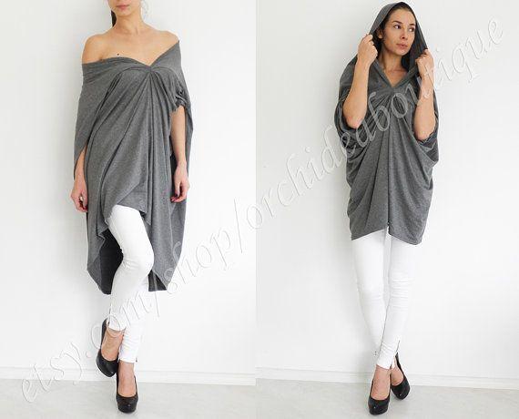 ENVY TOP Convertible draped asymmetric loose oversized jersey dress tunic multy way women fashion plus size maternity on Etsy, 33,63€