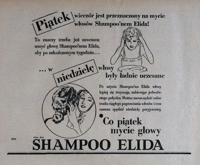 Atqa Beauty Blog :: Piątek wieczór. Reklama prasowa, 1931.