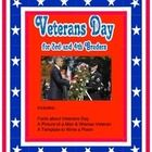 What is Veterans Day? What is a Veteran? Who is in the Armed Services?  Students can find out this information from reading, drawing, and writing a...