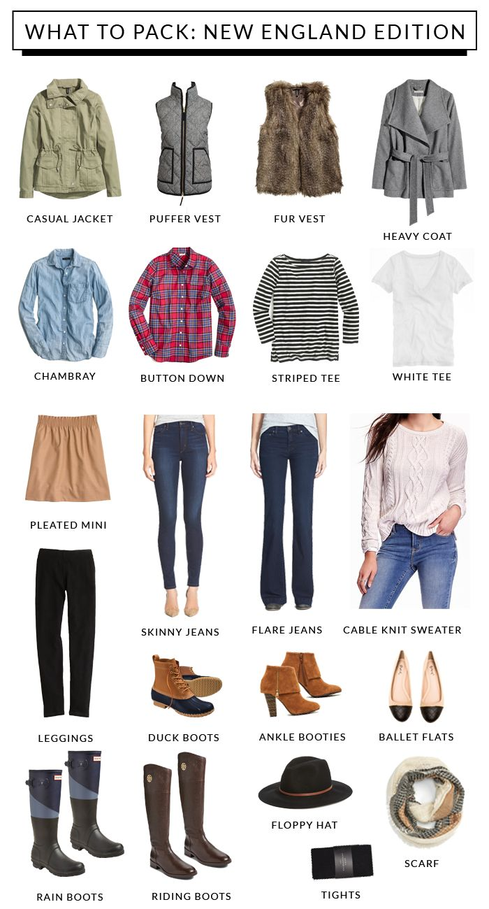 what to pack for new england