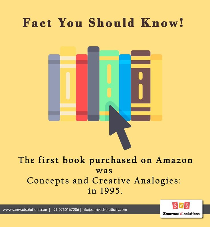 Did You Know ?  The first book purchased on Amazon was Douglas Hofstadter's Fluid Concepts and Creative Analogies: Computer Models of the Fundamental Mechanisms of Thought in 1995.  #didyouknow #doyouknow #fact #funfact #internetfact #amazingfact #amazon #book