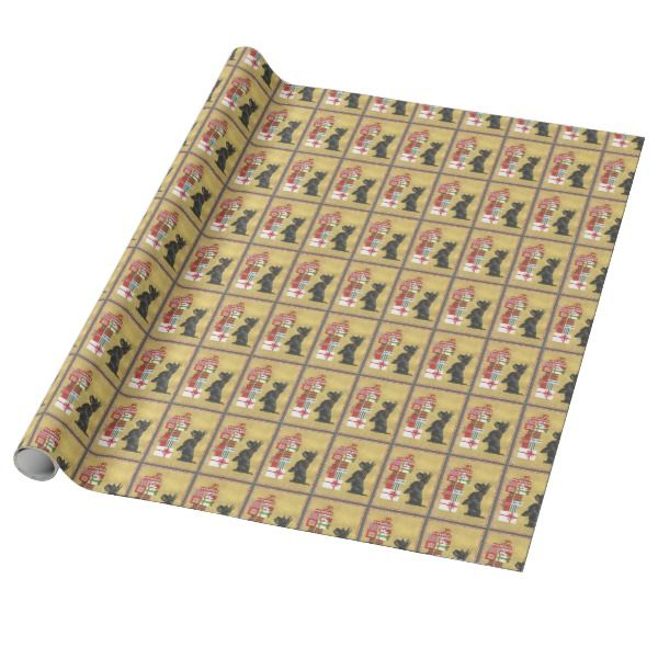 Scottish Terrier Christmas Presents Paper #giftwrap #christmas #wrappingpaper