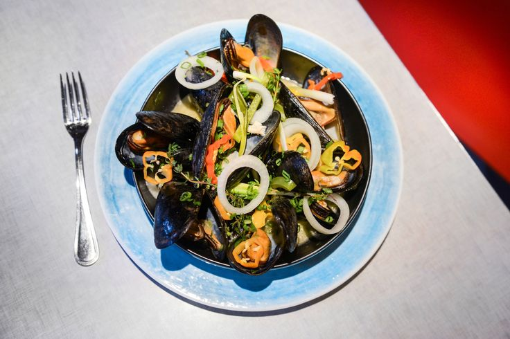 NYT Cooking: Red Stripe-Steamed Mussels