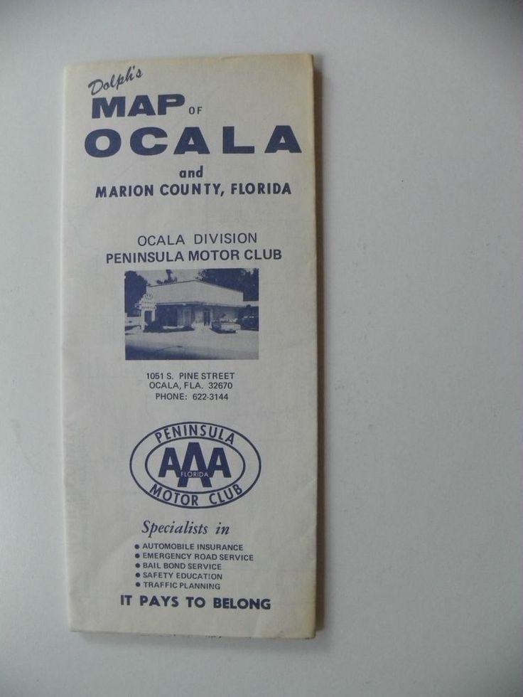 DOLPH'S STREET MAP OF OCALA & MARION COUNTY FLORIDA 1982