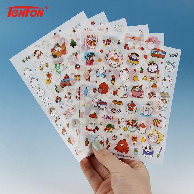 12 PCS/2 Pack New Korea Creative Cartoon Potato Rabbit Series Kawaii Pvc Stickers In The Third Quarter Potatoes Rabbit