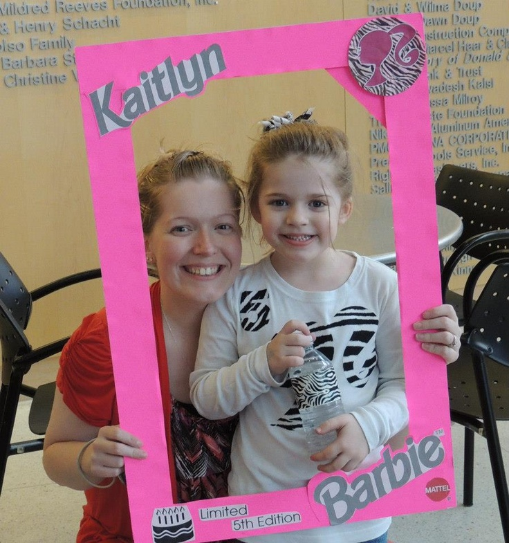 Barbie Party photo prop!  Thanks Pinterest for inspiration!
