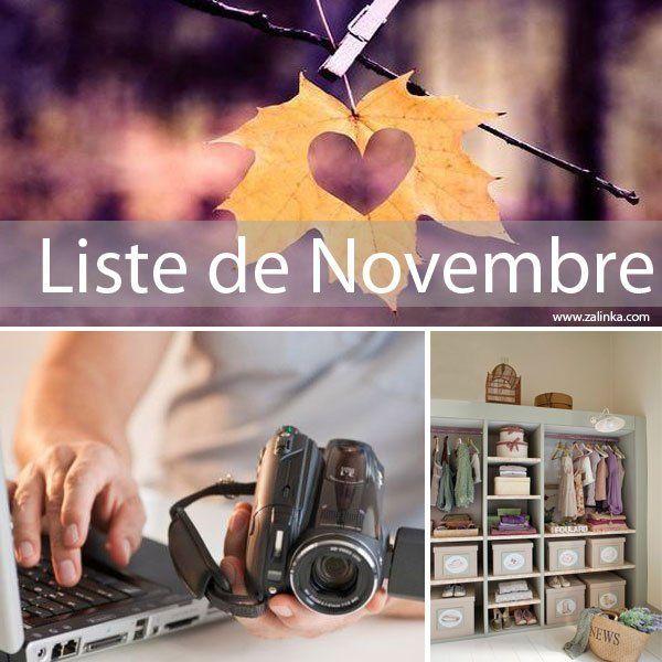 Liste de novembre