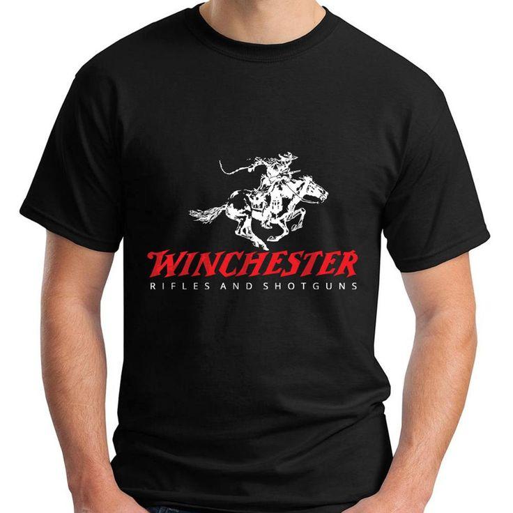 2017 Fashion New Winchester Rifle and Shotguns Logo Men's Black T-Shirt Size Custom Print Casual O-Neck Top Tee 100% Cotton