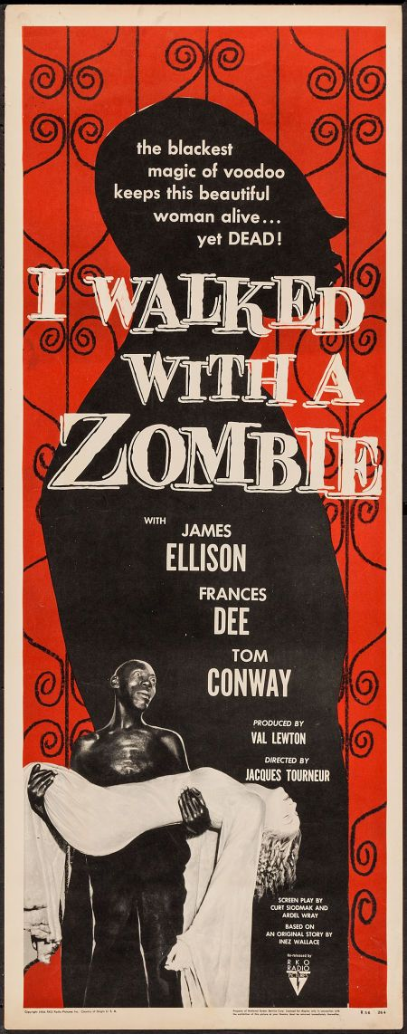 "Movie Posters:Horror, I Walked with a Zombie (RKO, R-1956). Insert (14"" ... Image #1"