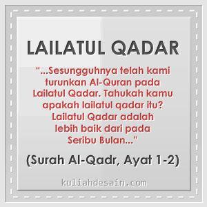 Gambar Kata Lailatul Qadar