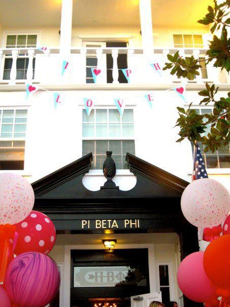 sorority housetour~ pi phi USC➹ love the etched glass above the door