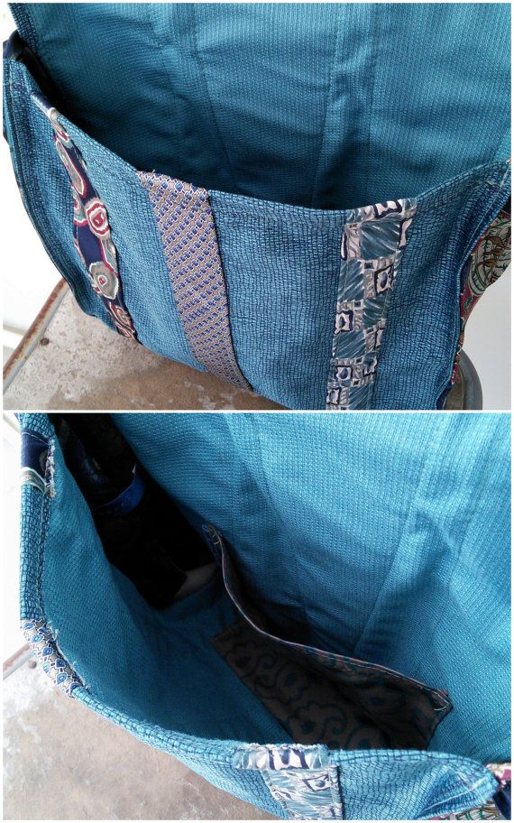 Tie Messenger Bag Cross Body Tas upcycled eco-vriendelijk