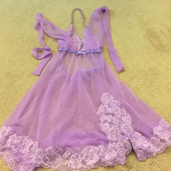 Lace Lingerie Top Fredricks Purple Lace Lingerie Too Frederick's of Hollywood Intimates & Sleepwear Chemises & Slips