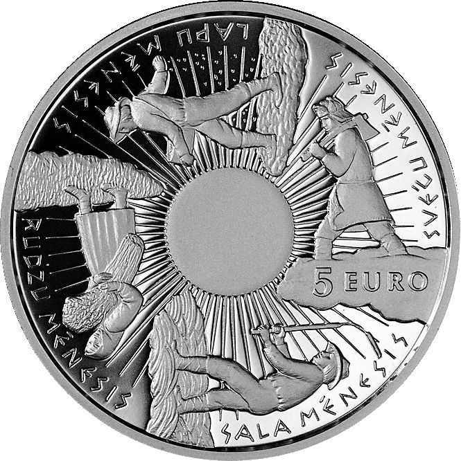 "Latvian silver collector 5 euro ""Coin of the Seasons"", year 2014."