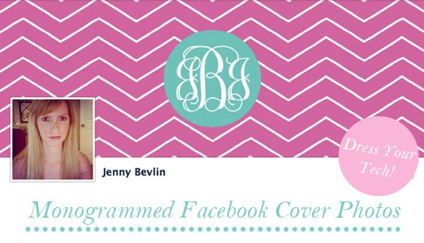 Click to download and make your own monogram Facebook cover photo by ForChicSake.com