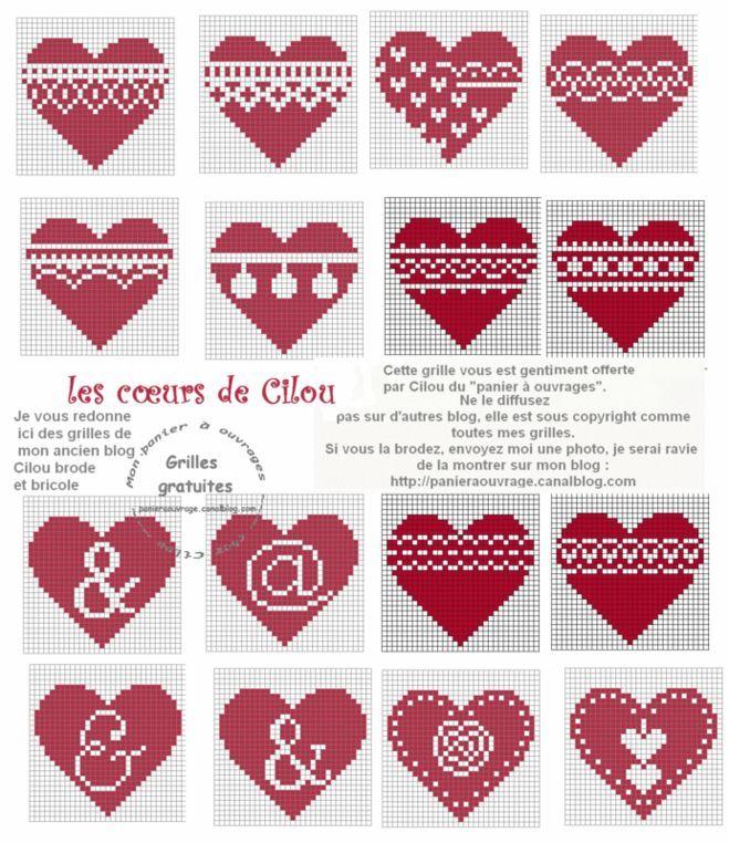 """Какие есть красивые схемы вышивки """"сердце"""" крестиком? Где скачать?"""