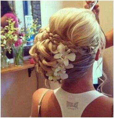 #bridesmaid #hair #bridal #braid #updo #destination #wedding #hair #flowers  #Bridesmaids #Hair