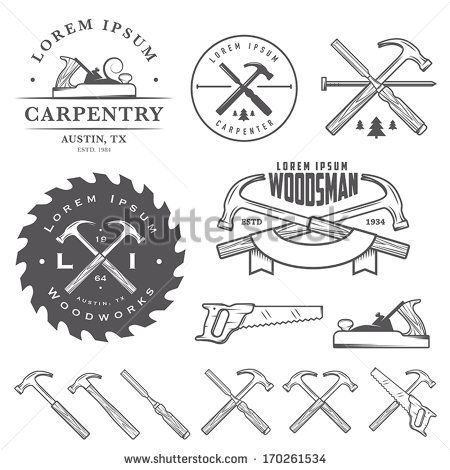 wood tool tattoos. set of vintage carpentry tools, labels and design elements - buy this stock illustration on shutterstock \u0026 find other images. wood tool tattoos o
