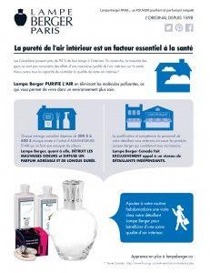 Lampe Berger Fact Sheet FRENCH35