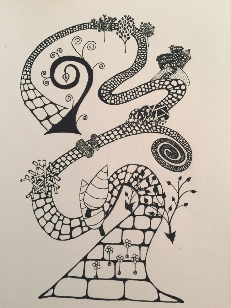The road of life - doodle