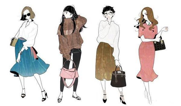 We Always Like Fashion Things Nowadays Fashion And Art Are Combined And Many Fashionable Cartoon Charac Art Clothes Girls Illustration Character Design Girl