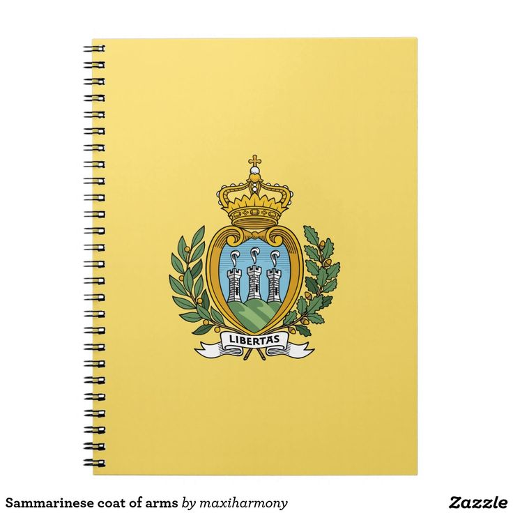 Sammarinese coat of arms spiral notebooks