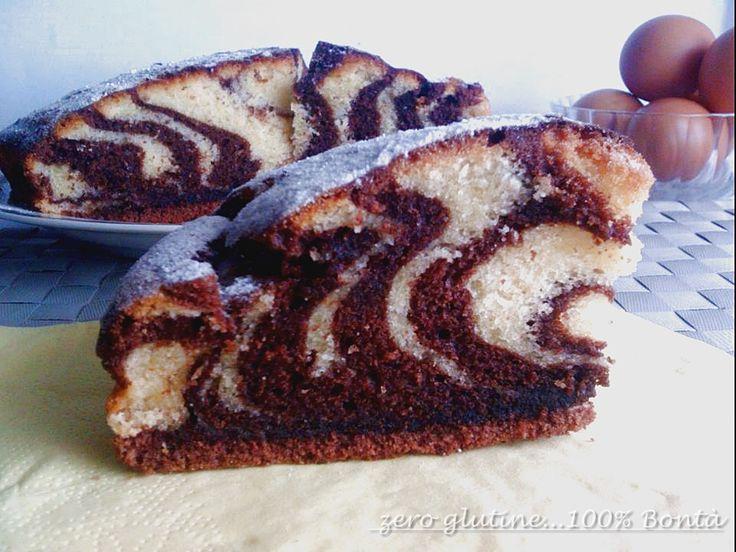 Torta zebrata senza glutine (e senza burro)