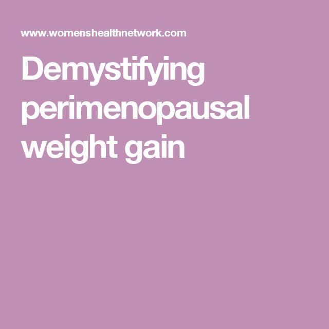 Demystifying perimenopausal weight gain