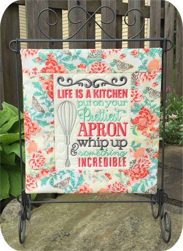 Kitchen Sayings Set Machine Embroidery Design Files @ EmbroideryGarden.com