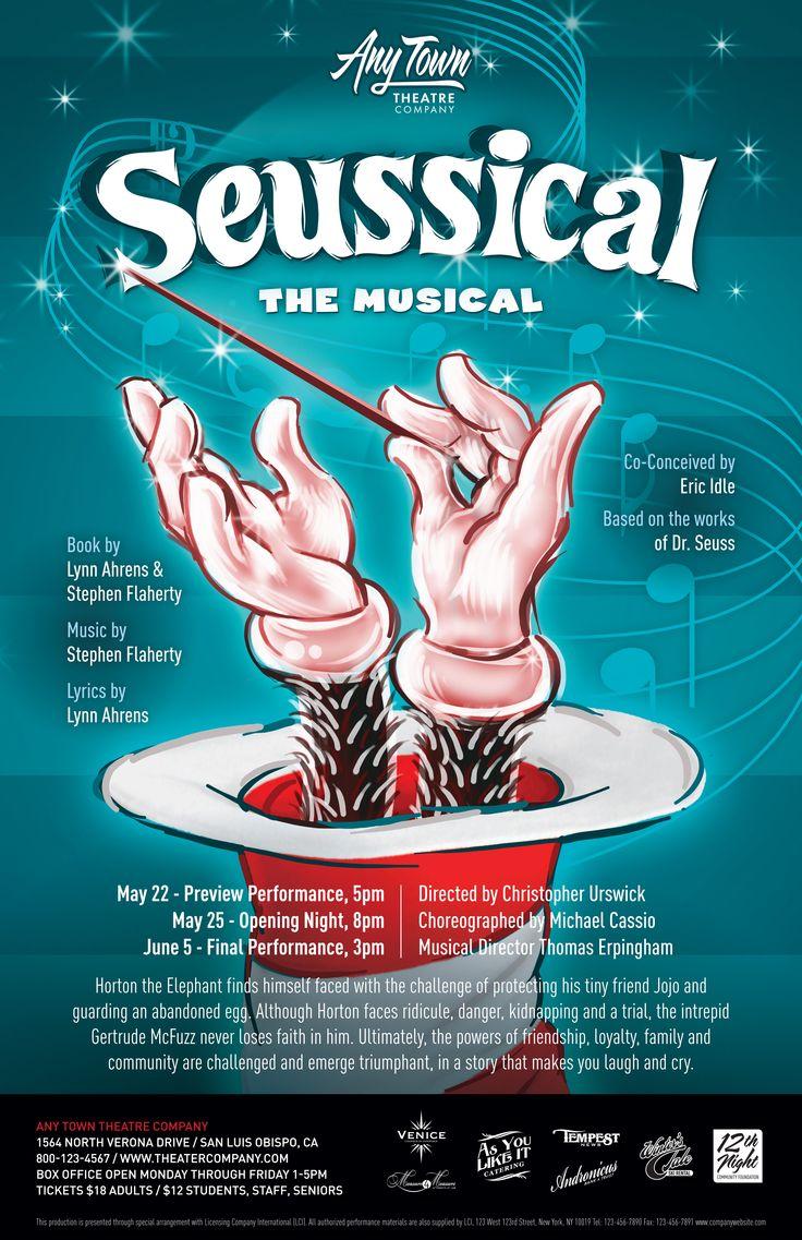 Subplot Studio customizable poster design— Seussical