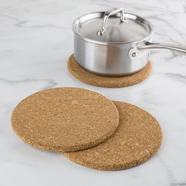 Protect your counter and tabletops with these lightweight cork trivets.
