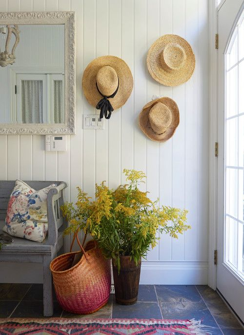 How To Decorate With Hats Decorating Ideas For The Home Coastal