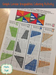 Practice matching linear inequalities to their graphs with this fun coloring activity. Math Dyal