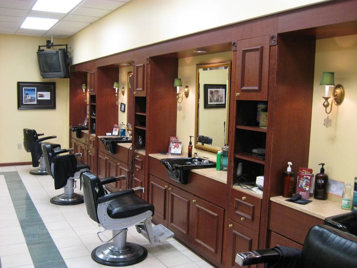 Barbershop Design Ideas barber shop designs on hair designing a hair salon parlour interior designs salon layout ideas black and white salon decor small beauty salons Find This Pin And More On Shop Ideas Barber Shop Designs