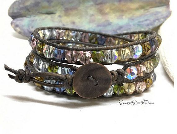 Triple Wrap Bracelet Boho Wrap Beaded Jewelry Beaded Wrap