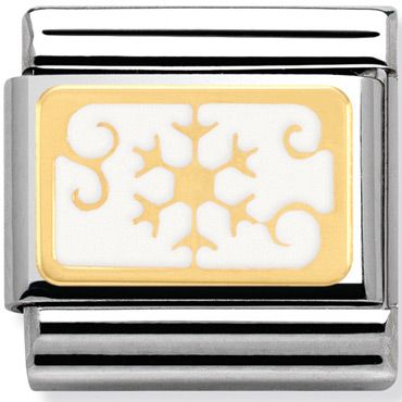 Nomination Charm Gold Snowflake