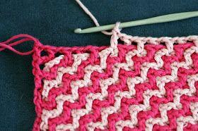 Interlocking Crochet Stitch: photo tutorial and/or translator needed