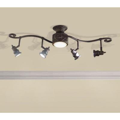 study 129 hampton bay kara 5 light track lighting 15561 012 at the. Black Bedroom Furniture Sets. Home Design Ideas
