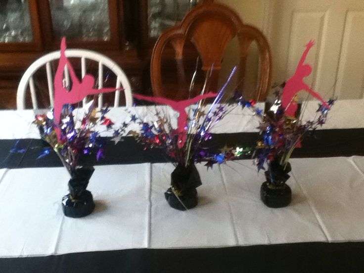 Gymnastics centerpieces dollar tree balloon holders plus