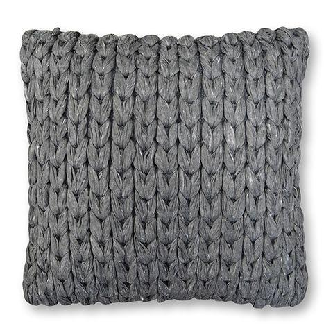 Soft Chain Steel Grey Cushion 45cm